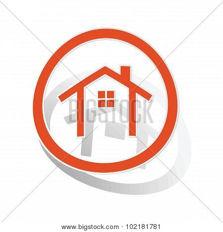 Cottage sign sticker, orange