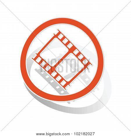 Movie sign sticker, orange