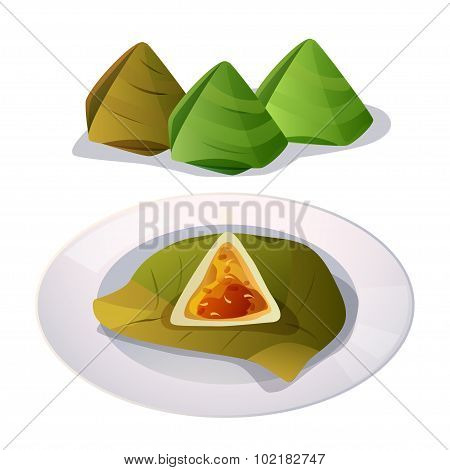 Stuffed Dough Pyramid