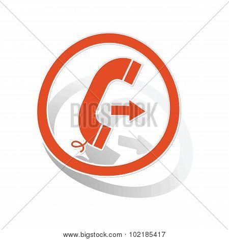 Outgoing call sign sticker, orange