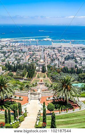 Bahai gardens, Haifa city