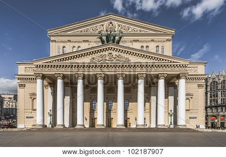 The Bolshoi Theatre In Moscow.