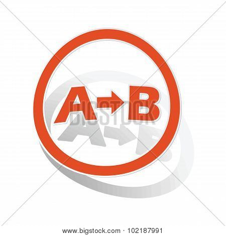 A-B logic sign sticker, orange
