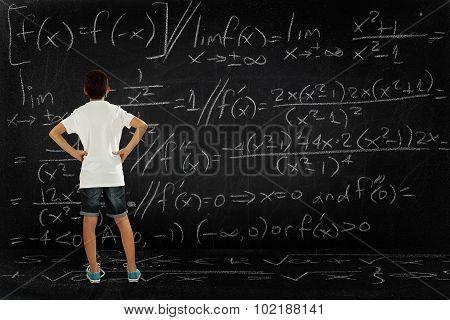 Boy And Maths