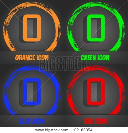 Number Zero Icon Sign. Fashionable Modern Style. In The Orange, Green, Blue, Red Design. Vector