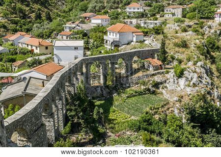Aqueduct In Old City Of Bar. Montenegro.