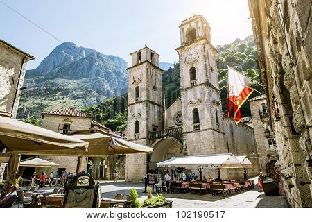 Church Of Saint Tryphon In The Old Town Of Kotor.montenegro.