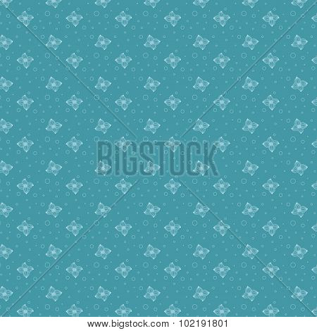 Floral Seamless Pattern abstract vector design linear outline style. Azure Flourish background lineart outlined.
