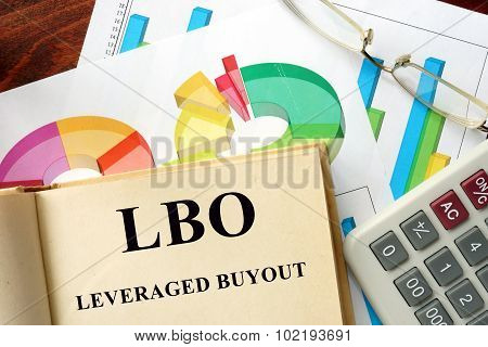Word Leveraged Buyout - LBO written on a book.