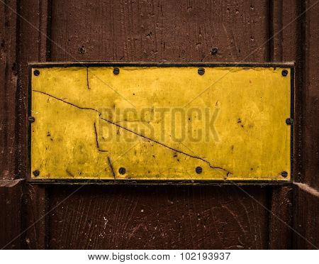 Grungy Yellow Blank Sign