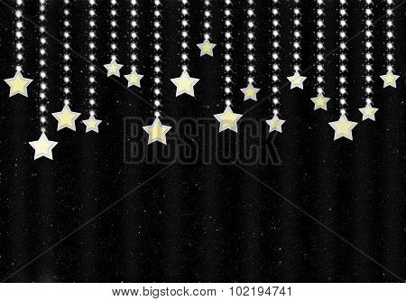 Beautiful night background with shining stars.