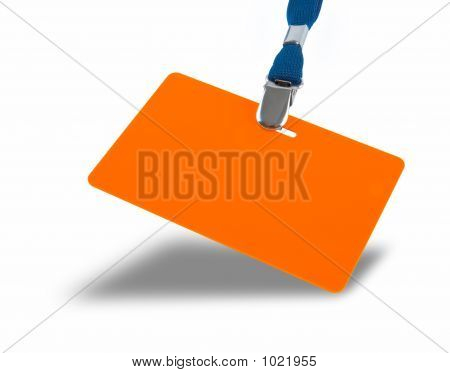Orange Badge On The Lanyard