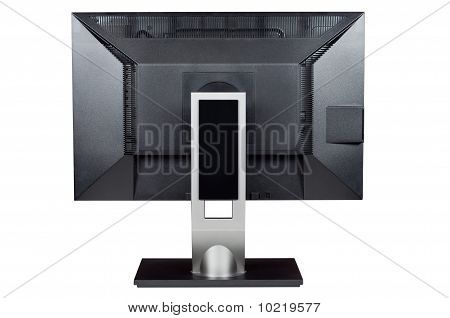 Monitor Computer, Isolated White, Rear View, Clipping Path.