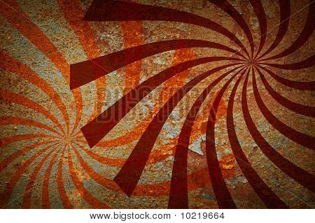 Grunge Abstract Background Twirled Beams.