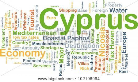 Background concept wordcloud illustration of Cyprus