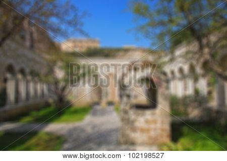 Italy. Sicily Island. Palermo City. The Monastery Courtyard (cloister) Of San Giovanni Degli Eremiti