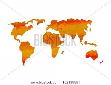 World map easy all editable