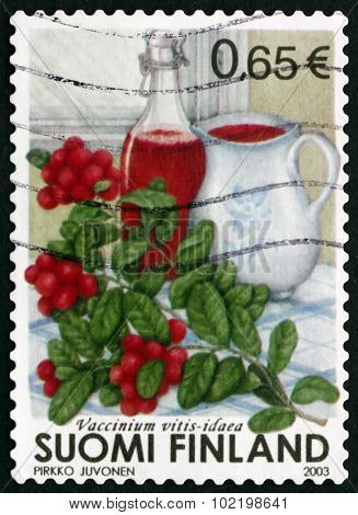 Postage Stamp Finland 2003 Cowberry