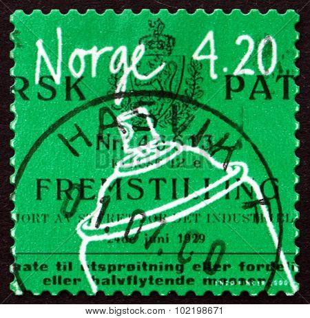 Postage Stamp Norway 2003 Aerosol Container