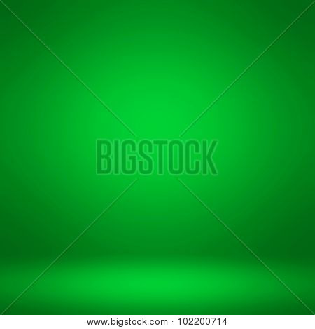 Abstract illustration background texture of dark and light clear green, verdant, leafy, lush, spring and summer color gradient flat wall and floor in empty spacious room interior, seamless pattern