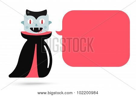 Monster halloween vampire cartoon characters isolated vector