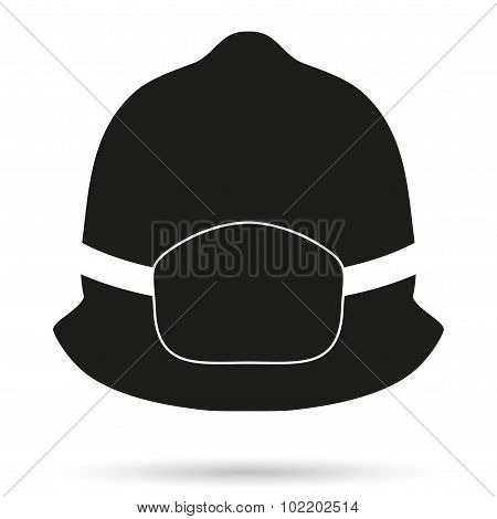 Silhouette symbol of fireman helmet
