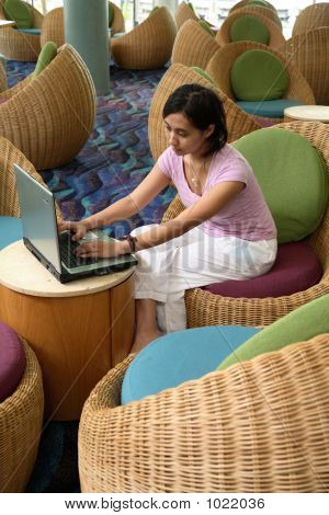 Working At Lobby