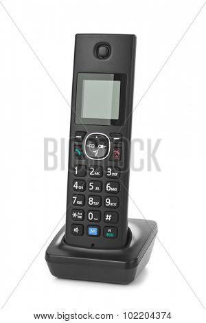 Wireless radio telephone isolated on white background