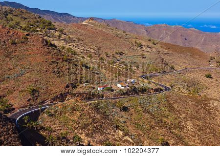 Road in La Gomera island - Canary Spain