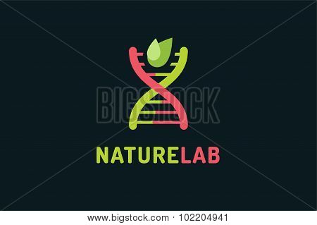 Technology biology DNA vector logo icon