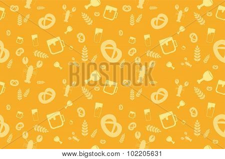 Holiday Oktoberfest Seamless Pattern
