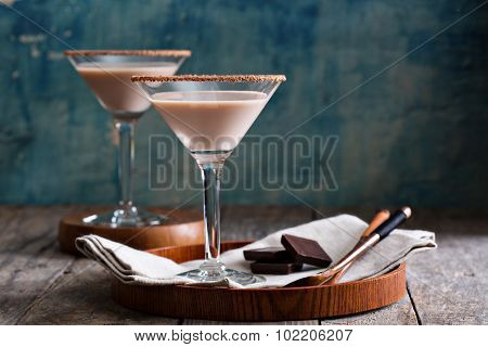Chocolate martini coctail