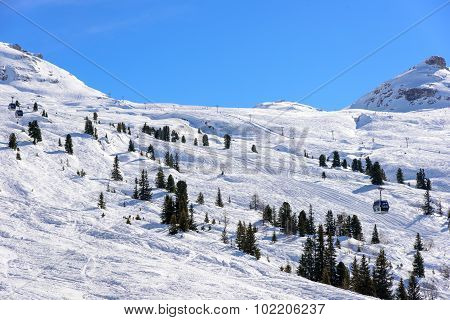 Unprepared Ski Slope Areas