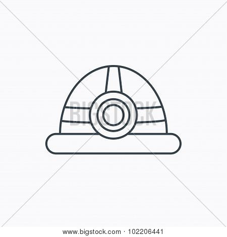 Engineering icon. Engineer or worker helmet.