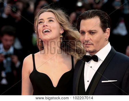 Johnny Depp, Amber Heard at the premiere of Black Mass at the 2015 Venice Film Festival. September 4, 2015  Venice, Italy