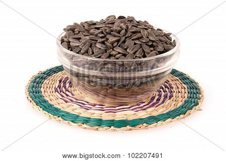sunflower seeds in the bowl