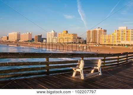 Virginia Beach Boardwalk at Dawn