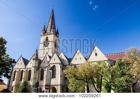Evangelical Cathedral in the center of Sibiu,