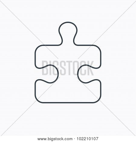 Puzzle icon. Jigsaw logical game sign.