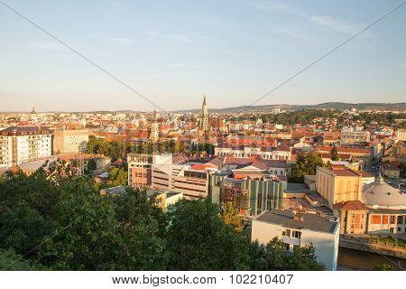 Aerial view of Cluj Napoca Romania