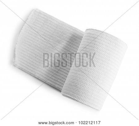 Medical bandage roll isolated