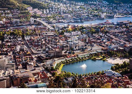 View on Bergen Norway