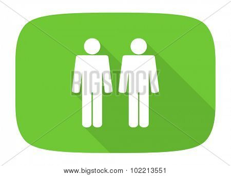 couple flat design modern icon with long shadow for web and mobile app