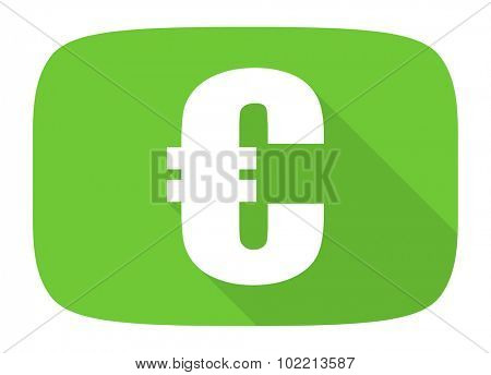 euro flat design modern icon with long shadow for web and mobile app
