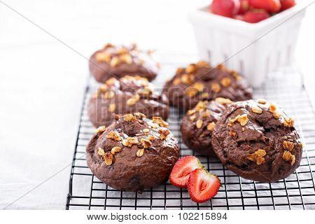 Chocolate homemade bagels