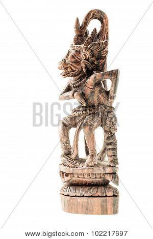Wooden Hindu God