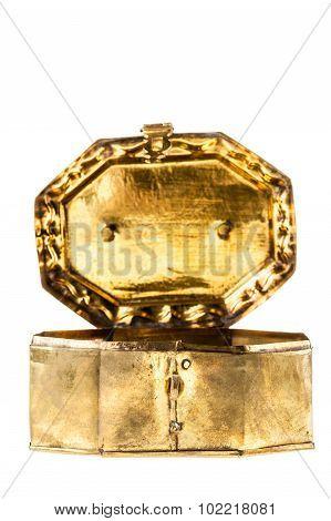Open Golden Casket