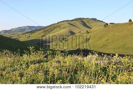 Beautiful view from the top of pass Biryuksinsky.