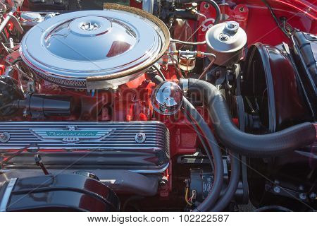 Ford Thunderbird Engine On Display