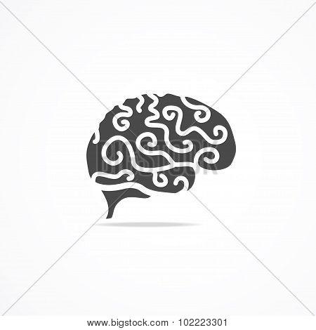 Brain Icon. Vector